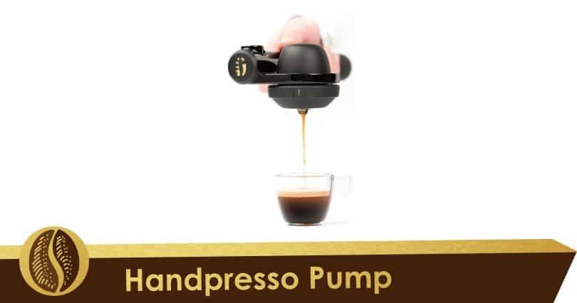 No batteries or electricity required, Handpresso Pump Black