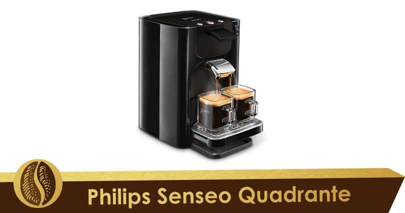 Elegant and easy to store, the Senseo Quadrante
