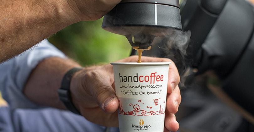 Design and compact, Handpresso Handcoffee Auto