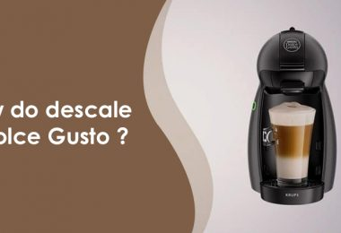 How do you descale a Dolce Gusto coffeemaker?