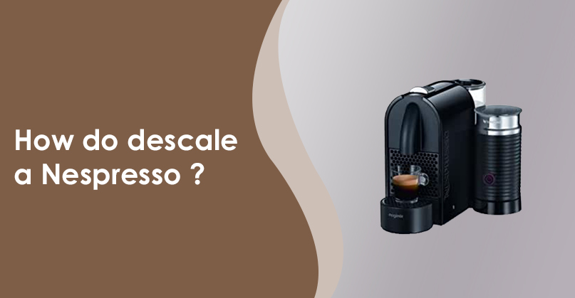 How do I descale a Nespresso coffeemaker?