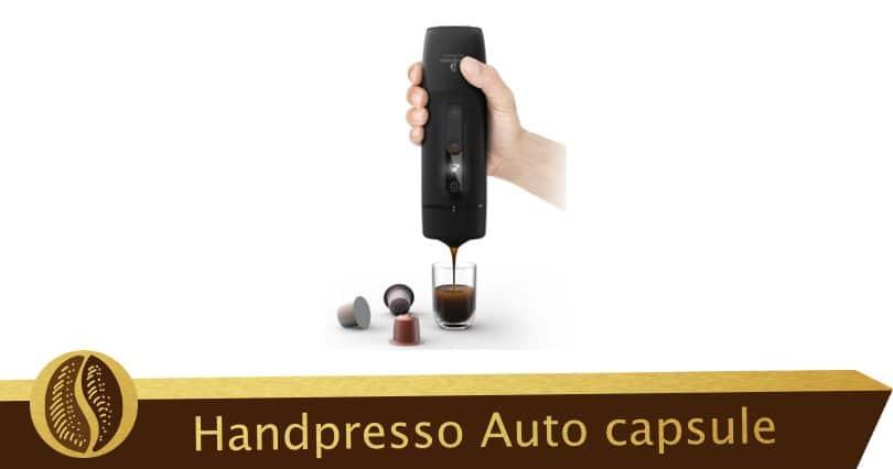 Handpresso Auto capsule, Nespresso coffee in the car